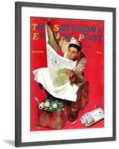 """Willie Gillis on K.P"" Saturday Evening Post Cover, April 11,1942 by Norman Rockwell"