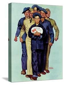 """Willie Gillis' Package from Home"", October 4,1941 by Norman Rockwell"