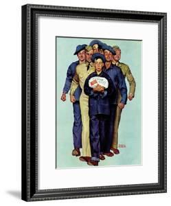 """""""Willie Gillis' Package from Home"""", October 4,1941 by Norman Rockwell"""