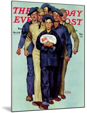 """""""Willie Gillis' Package from Home"""" Saturday Evening Post Cover, October 4,1941"""