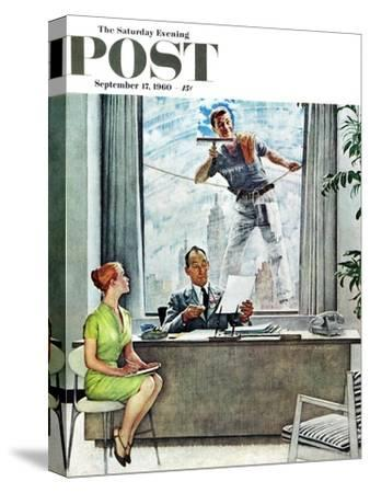 """""""Window Washer"""" Saturday Evening Post Cover, September 17,1960"""