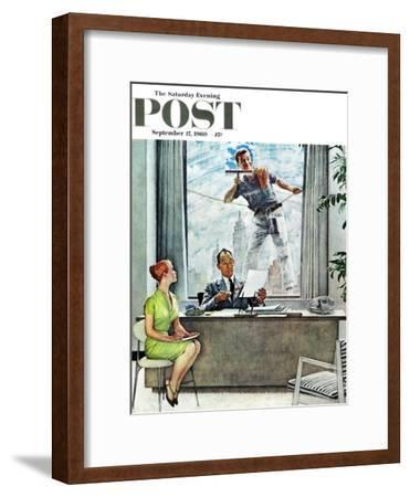 """Window Washer"" Saturday Evening Post Cover, September 17,1960"