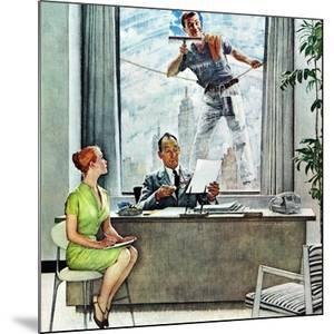 """Window Washer"", September 17,1960 by Norman Rockwell"