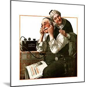 """""""Wonders of Radio"""" or """"Listen, Ma!"""", May 20,1922 by Norman Rockwell"""