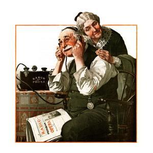 """Wonders of Radio"" or ""Listen, Ma!"", May 20,1922 by Norman Rockwell"
