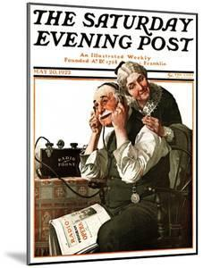 """""""Wonders of Radio"""" or """"Listen, Ma!"""" Saturday Evening Post Cover, May 20,1922 by Norman Rockwell"""