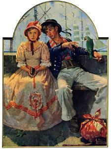 """Yarn Spinner"", November 8,1930 by Norman Rockwell"