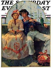 """""""Yarn Spinner"""" Saturday Evening Post Cover, November 8,1930 by Norman Rockwell"""