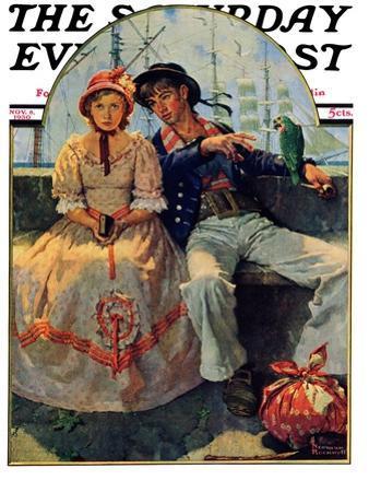 """Yarn Spinner"" Saturday Evening Post Cover, November 8,1930"