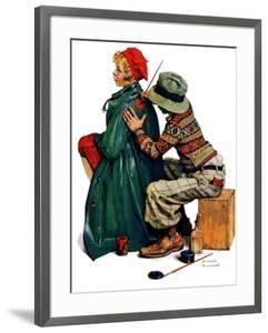 """""""Young Artist"""" or """"She's My Baby"""", June 4,1927 by Norman Rockwell"""