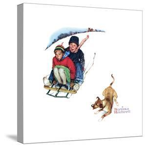 Young Love: Sledding by Norman Rockwell