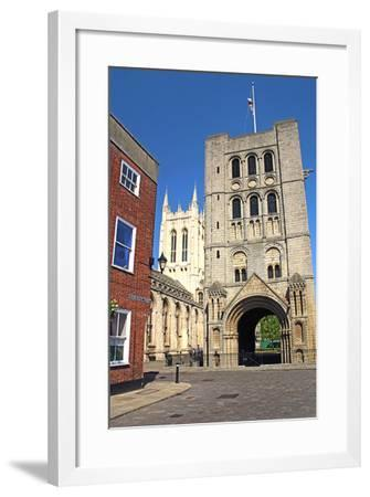Norman Tower and Gatehouse, Bury St Edmunds, England-Peter Thompson-Framed Photographic Print