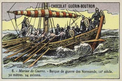 Norman Warship, 9th Century--Giclee Print