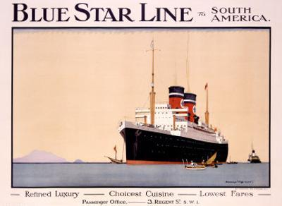 Blue Star Line by Norman Wilkinson