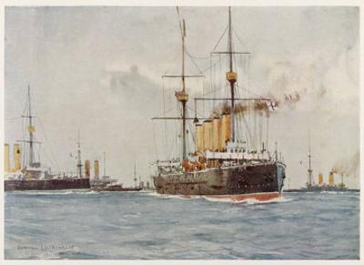 Cruisers of the Royal Navy by Norman Wilkinson