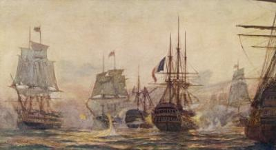 Egyptian Campaign Battle of the Nile by Norman Wilkinson