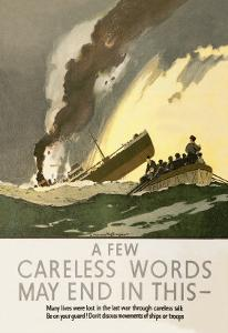 Few Careless Words May End in This by Norman Wilkinson