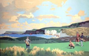 Golf in Northern Ireland, LMS Poster, circa 1925 by Norman Wilkinson