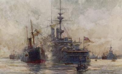Huge Quantities of Coal are Required to Keep the World's Navies Operating by Norman Wilkinson