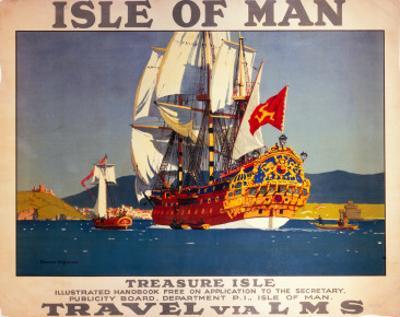 Isle of Man, Treasure Isle, LMS, c.1923-1947 by Norman Wilkinson