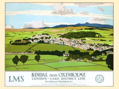 Kendal From Oxenholme, London-Lake District Line by Norman Wilkinson