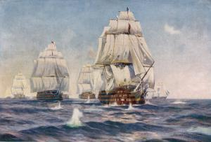 Nelson's Flagship at the Battle of Trafalgar 21 October 1805 by Norman Wilkinson