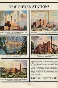 New Power Stations, Advert for British Electricity, 1951 by Norman Wilkinson