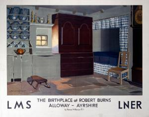 The Birthplace of Robert Burns, LMS/LNER, c.1923-1947 by Norman Wilkinson