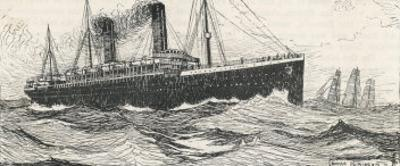 The R.M.S. Oceanic One of the Greatest White Star Liners by Norman Wilkinson