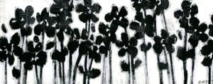 Black Flowers on White II by Norman Wyatt Jr.