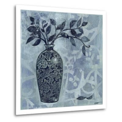 Ornate Vase with Indigo Leaves II