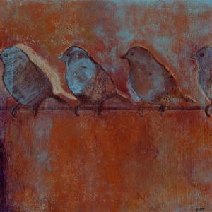Row of Sparrows I by Norman Wyatt Jr^