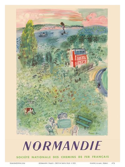 Normandie, France - SNCF (French National Railway Company)-Raoul Dufy-Art Print