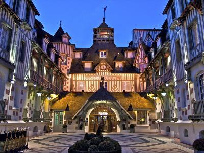 Normandy Barriere Hotel in the Evening, Deauville, Normandy, France-Guy Thouvenin-Photographic Print