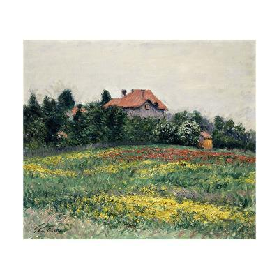 Normandy Countryside-Gustave Caillebotte-Giclee Print
