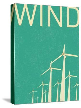 Retro Wind Turbines Illustration