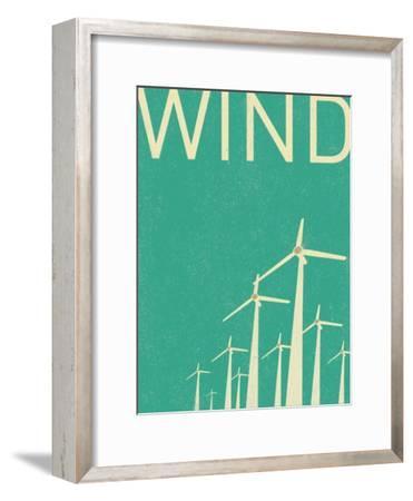 Retro Wind Turbines Illustration