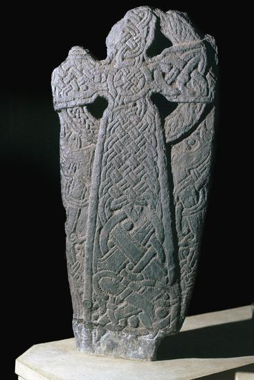 Norse dragon cross-slab from the Isle of Man, 11th century. Artist: Unknown-Unknown-Giclee Print