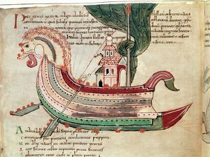 Norse Dragon-Prowed Ship, C10th Century