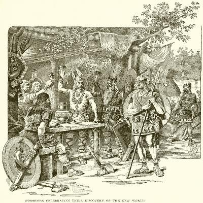 Norsemen Celebrating their Discovery of the New World--Giclee Print