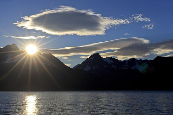 North America, the Usa, Alaska, Resurrection Bay Close Seward, Sunrise,-Bernd Rommelt-Photographic Print