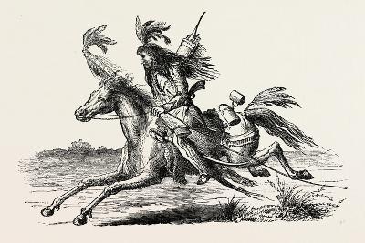 North American Indian on Horseback, USA, 1870s--Giclee Print
