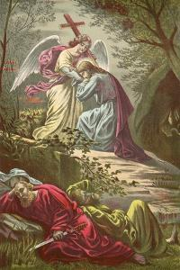 Jesus in the Garden of Gethsemane by North American