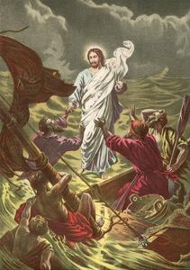 Jesus Walking on the Water by North American