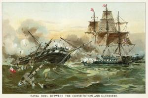 Naval Duel Between the Constitution and Guerriere by North American