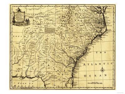 North and South Carolina & Georgia - Panoramic Map Art Print by Lantern  Press   Art com