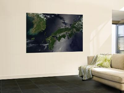 North and South Korea (Upper Left) as Well as the Japanese Island of Shikoku--Giant Art Print