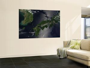North and South Korea (Upper Left) as Well as the Japanese Island of Shikoku