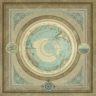 North and South Map II-Elizabeth Medley-Premium Giclee Print