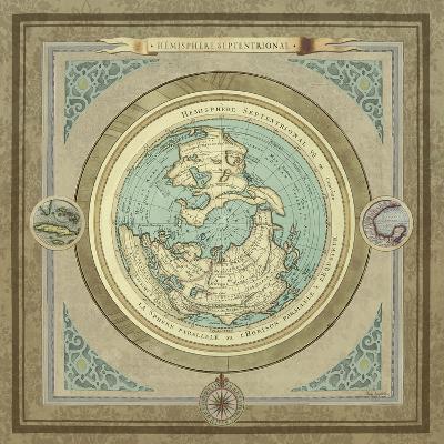 North and South Maps I-Elizabeth Medley-Premium Giclee Print